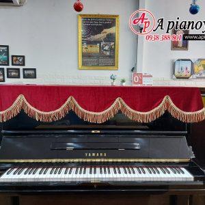 khăn phủ đàn piano màu đỏ hồng nhung