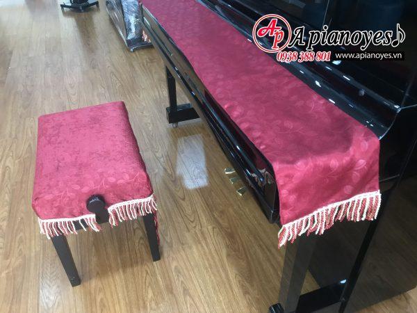 bộ khăn phủ nắp đàn và ghế